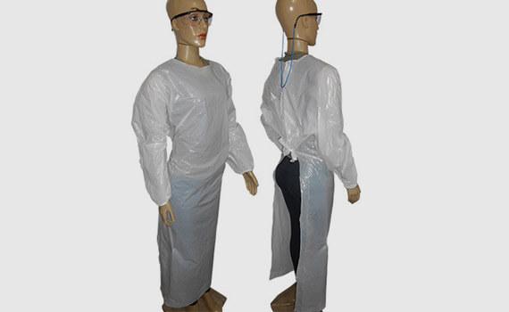 Avental Branco Tipo Barbeiro