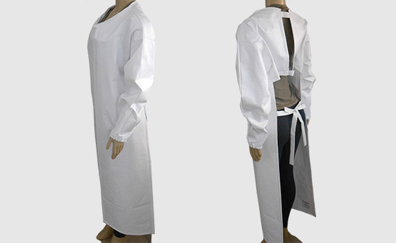 Avental em PVC Forrado Branco
