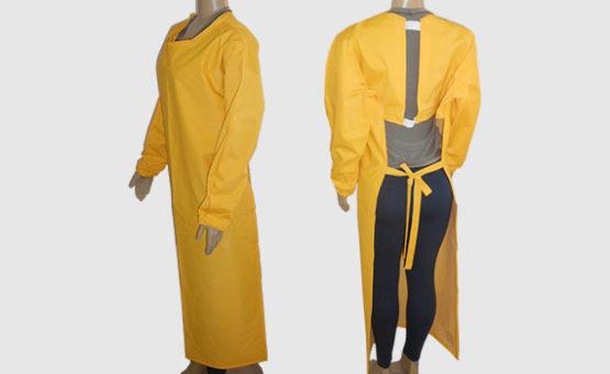 Avental em PVC Forrado Amarelo