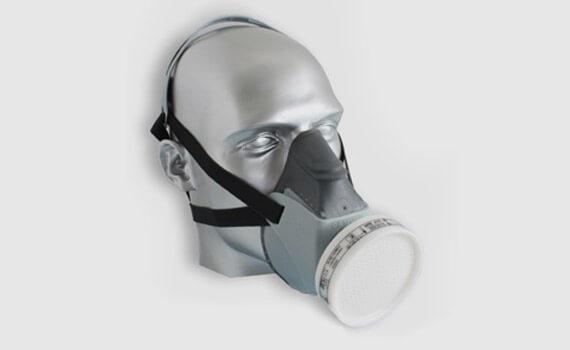 Máscara de Proteção semi-facial dotada de filtro contra Vapores inorgânicos e Gases ácidos GA