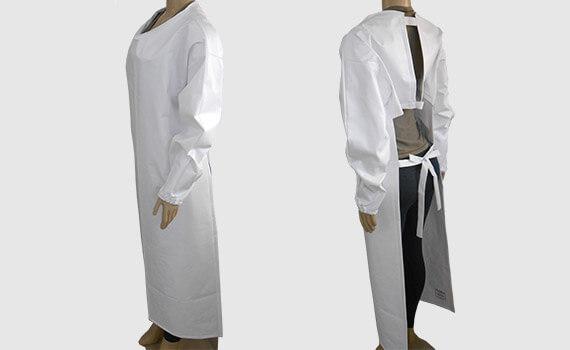 Avental de PVC Frontal Branco