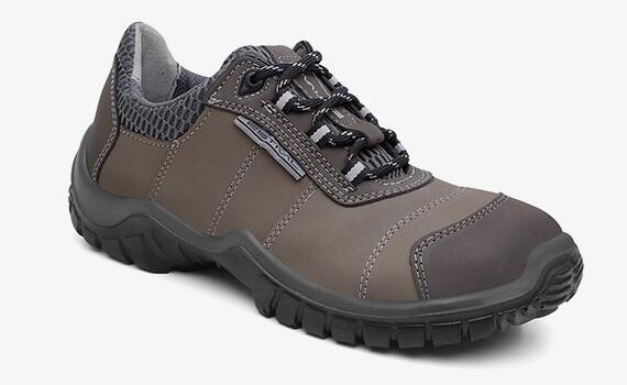 Sapato em Couro Nobuck Grafite/Titanium