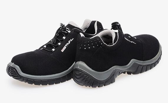 Sapato em Microfibra Preto/Cinza